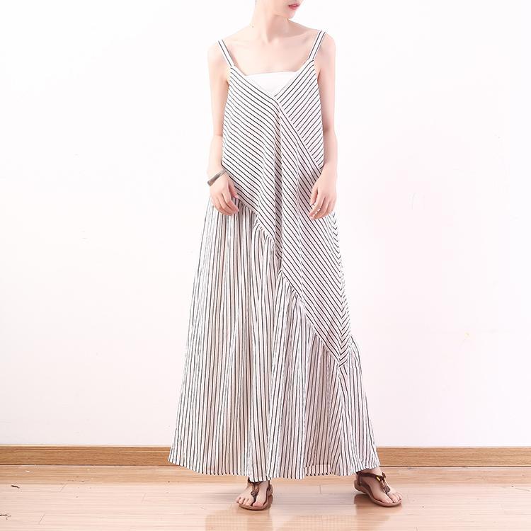 359211fe9b7 2019 Women Black Chiffon Striped Wide Leg Pants Jumpsuit Romper Women Deep V  Neck Fashion Long Playsuit High Waist Plus Size Overalls From Sunflowery