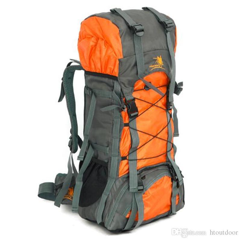 82c93486f5e1a Großhandel 12 Farbe Unisex Wasserdichte 60L Camping Wandern Klettern  Bergsteigen Rucksack Reisetasche Trekking Outdoor Rucksack Daypacks Von  Htoutdoor