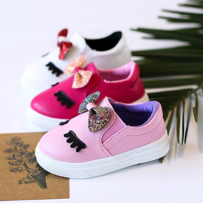 df789ce21 Compre Descuento Moda Nuevo 2018 Primavera Otoño Zapatos Para Niños  Pequeños Zapato De Bebé Calzado Casual Para Niños Zapatos De Niña De  Lentejuelas Calzado ...