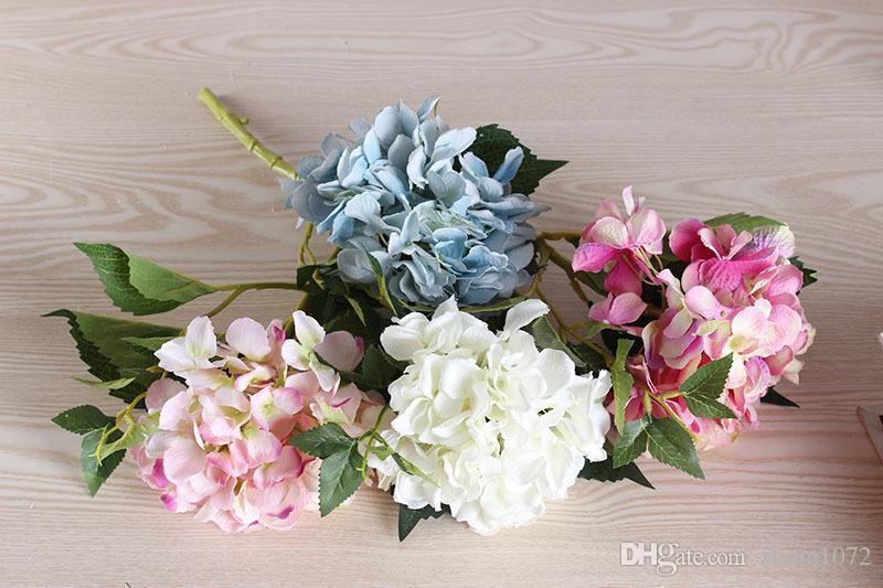 Grosshandel Kunstliche Hortensie Kunstliche Blume Seidenblume