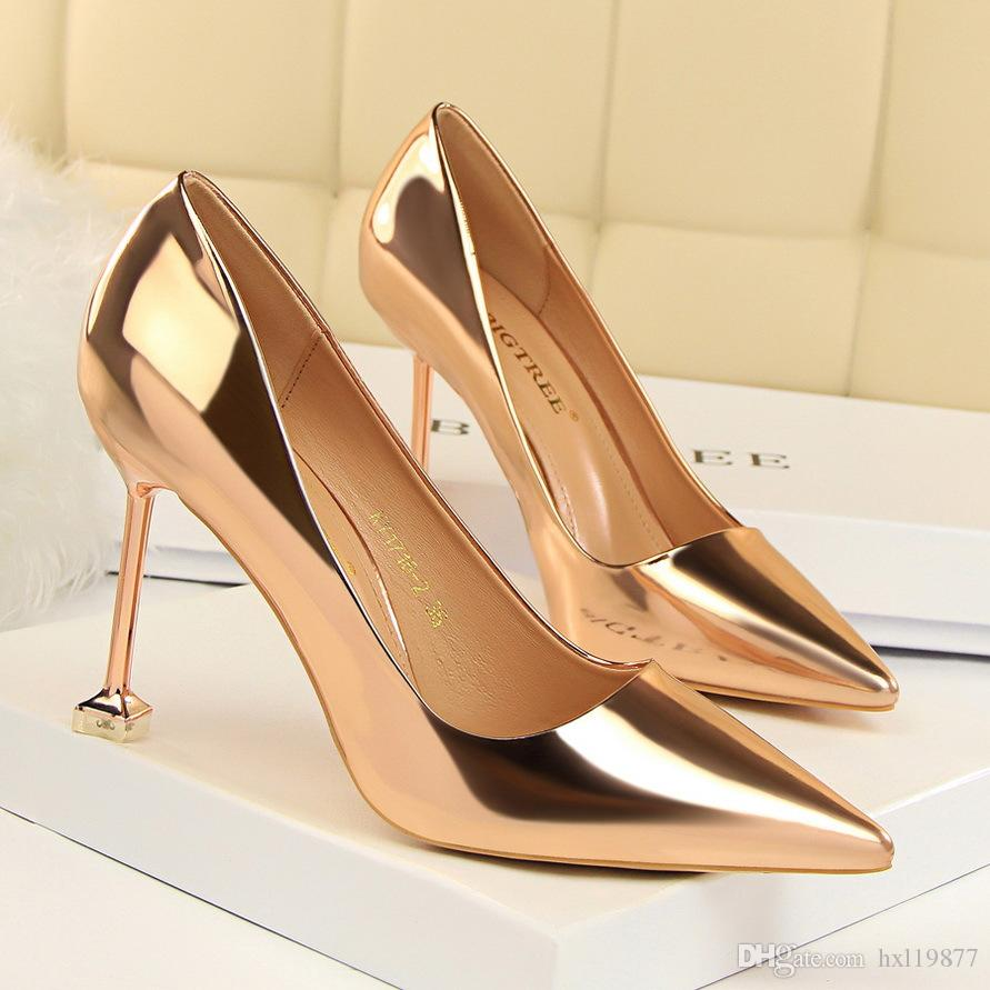 06b6988cd91 Good Quality BIGTREE Shoes Woman European High Heels Shallow Mouth Bowknot  Thin Pointed Toe High Heeled Single Shoes 1716 2 White Mountain Shoes  Scholl ...