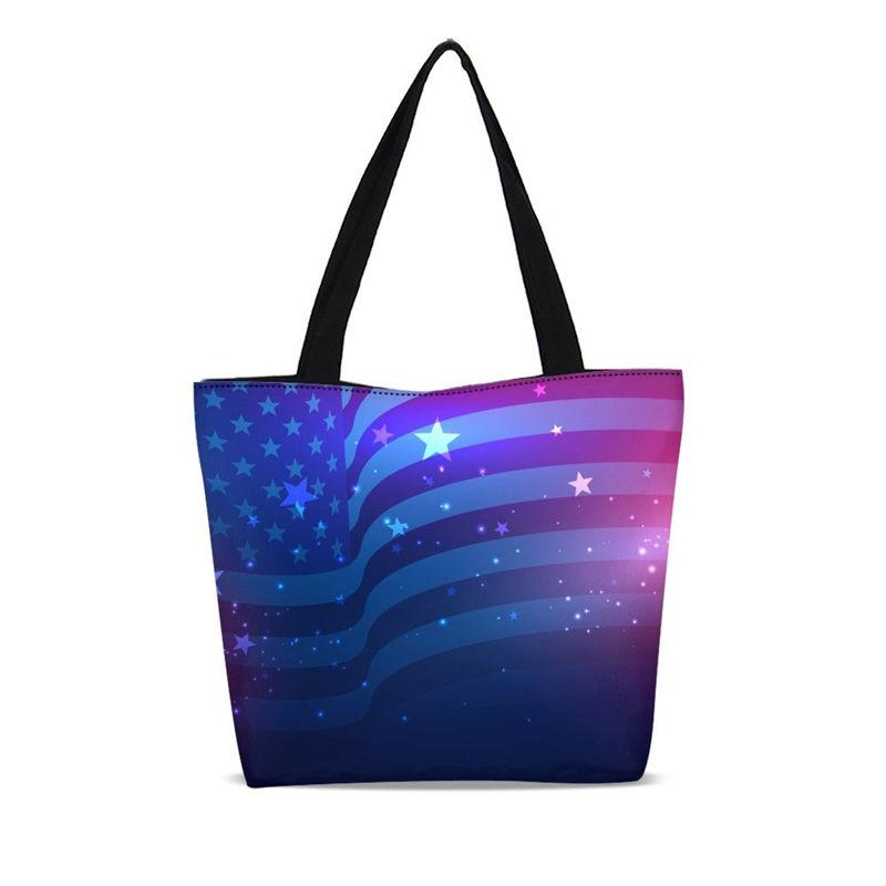 VEEVANV Brand Design Reusable Shopping Bag For Women Fashion National Flag  3D Printing Canvas Beach Bag Casual Tote Bags Female Folding Shopping Bags  ... ecac8e20db