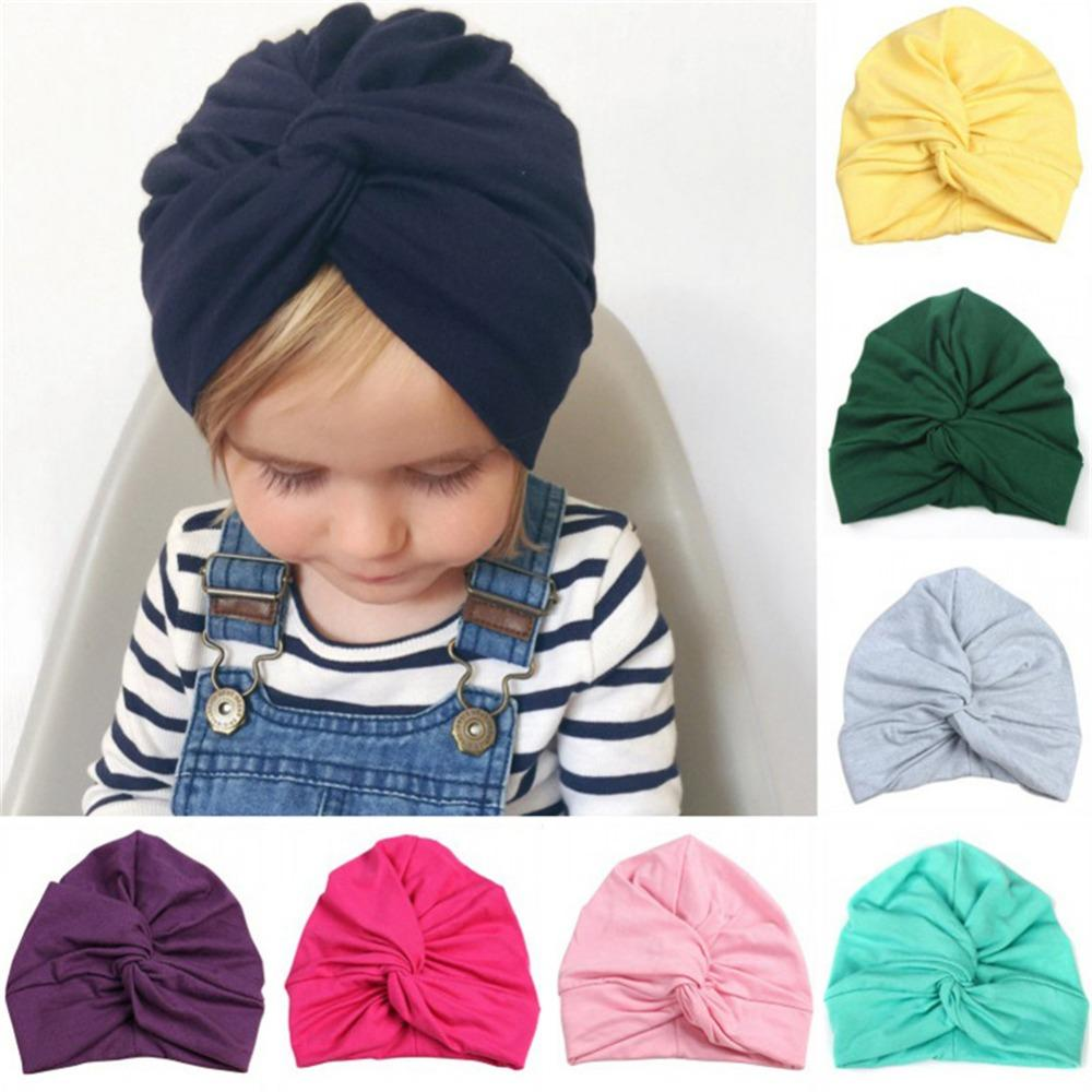 99+ New Floral Print Baby Girl Hat With Bow Cotton Bohemia Turban ... 59253f52f8d4