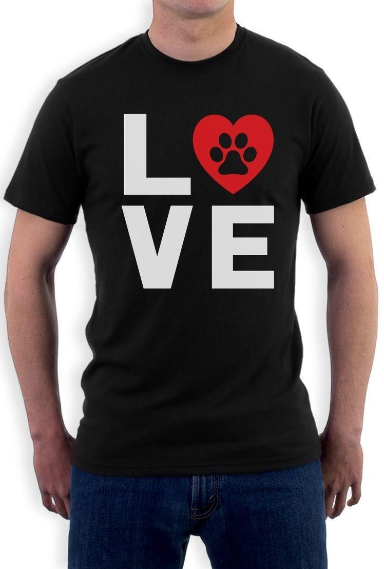 18391a54294b T Shirt Clothing Animal Lover Dog Paw Print Love Dogs My Best Friend ...