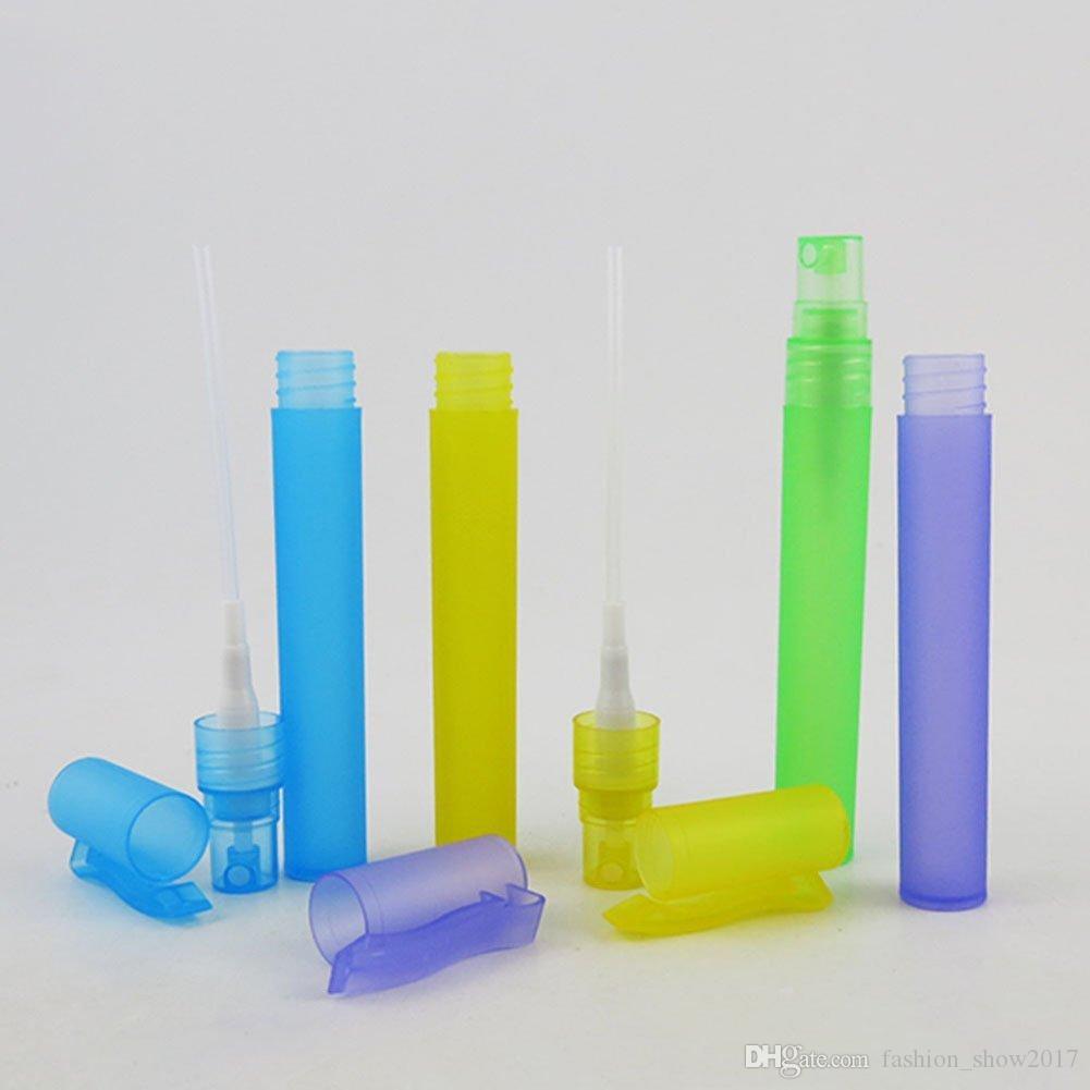 Garrafa de Perfume Portátil de Viagem quente Garrafas de Spray Vazio Recipientes Cosméticos 10 ml Perfume Vazio Atomizador Caneta De Plástico
