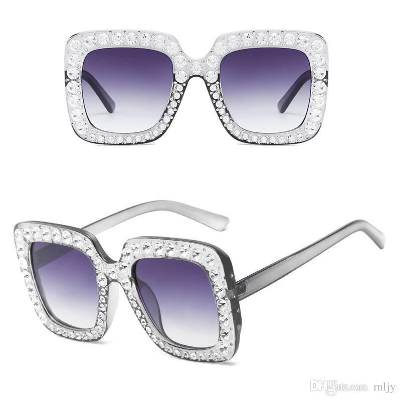 Moda Taklidi Kakma Boy Kare Güneş Kadınlar Için Zarif Marka Tasarımcısı Büyük Ayna Güneş Gözlükleri Kadın UV400