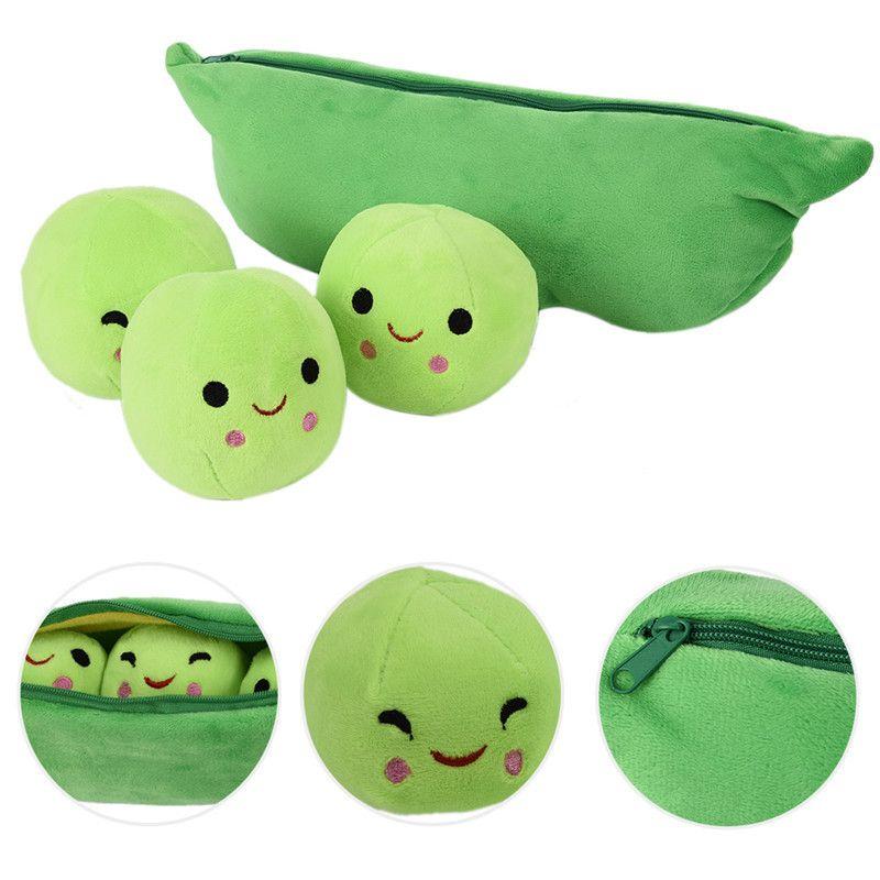25 CM Kinder Baby Plüschtier Nette Erbse Gefüllte Pflanze Puppe Freundin Kawaii Für Kinder Geschenk Hohe Qualität Erbsenförmigen Kissen Spielzeug Plüsch Rucksäcke