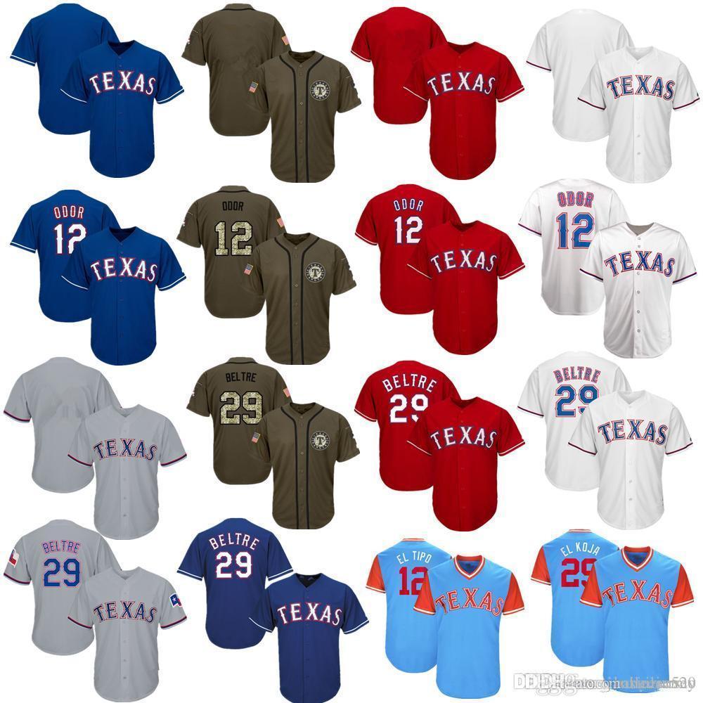 41c255eca4a Men Women Youth Rangers Jerseys 12 Odor 29 Beltre Baseball Jersey ...