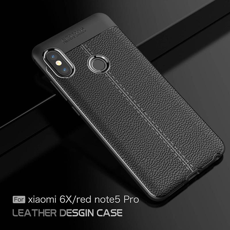 4f92748f980 Leather Cases For Xiaomi Redmi Note 5 Pro Case New Luxury Shockproof Soft  TPU Mobile Cover For Xiaomi Mi 6X M6X Bumper Uncommon Cell Phone Cases  Customize ...