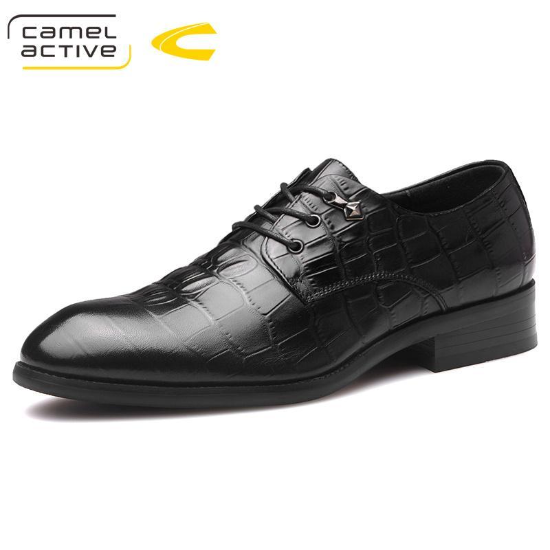 sports shoes 7e8c9 64ea1 Camel Active New Herren Qualität Echtes Leder Schuhe Schuhe Größe 38-44  Schwarz Schweinsleder weiche Mann Kleid Schuhe