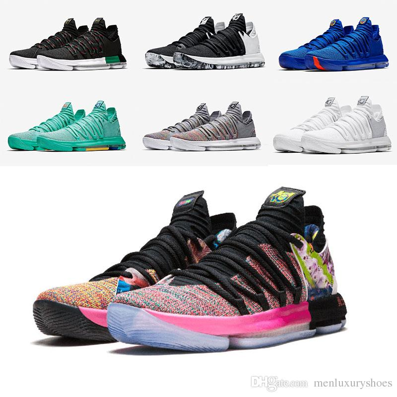 a89c53a51528 KD 10 Basketball Shoes MVP Oreo Black City Edition What The Red ...