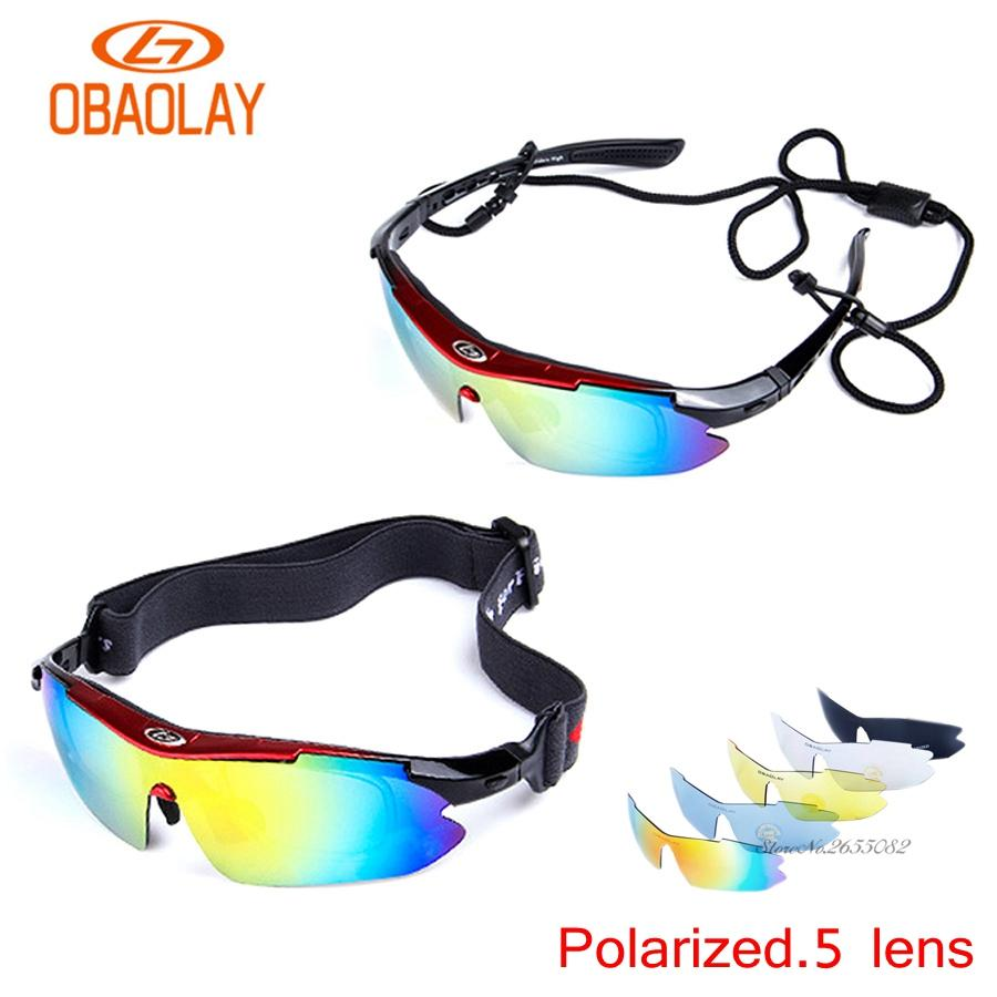 485d945bd6 UV400 Motorcycle Cycling Women Men Sport Glasses Set Polarized Ski Goggles  Oculos Eyewear Sunglasses for Fishing Bicycle 5Lens