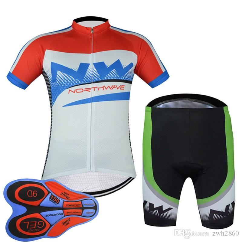 NW 2018 Bicycle Men Summer Cycling Short Sleeve Jersey Shirt MTB Maillot  Ciclismo Hombre Bike Shorts Set Clothing 9D Gel Pad F2521 NW Cycling Jersey  Ropa ... 8e03b2522