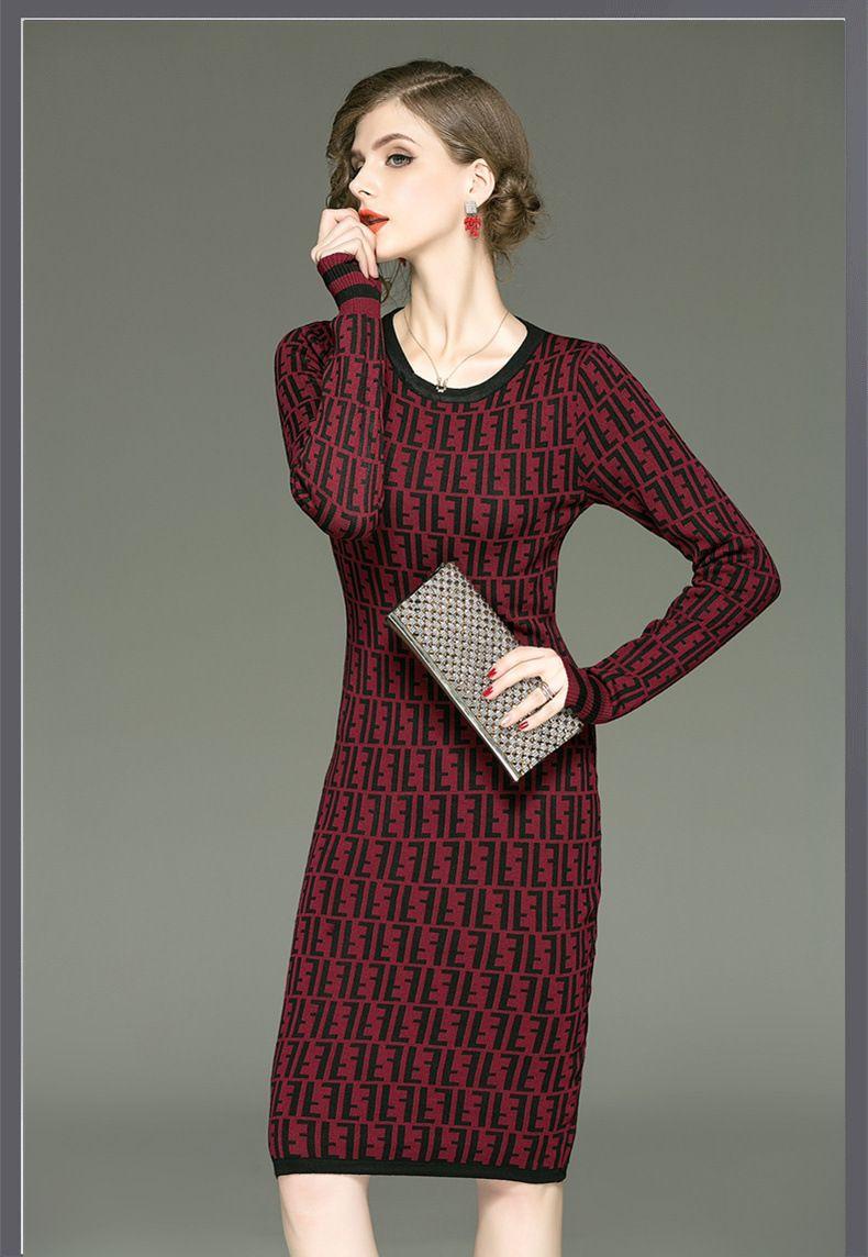 d7417f8159 Round Neck Plain Blend Bodycon Dress en 2019 Vestidos de