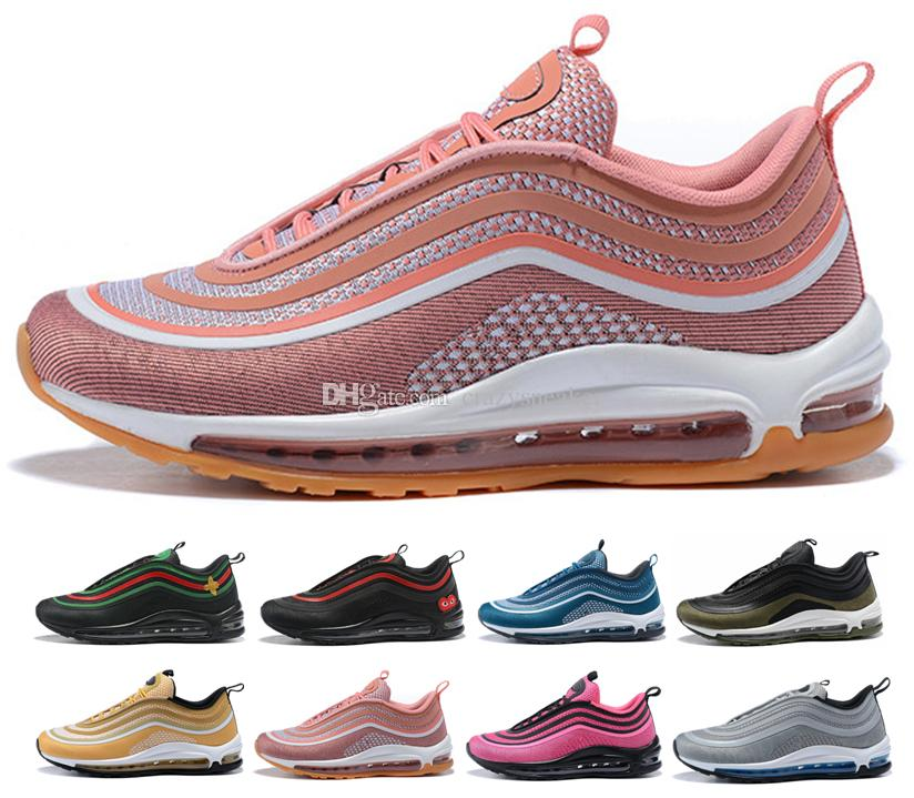 12184a7988fd9b 2018 New Mustard Yellow 97 Ultra Undefeated Running Shoes 97s Triple Pink Yellow  Womens Trainers Men Women Sneakers 304 Jogging Shoes Sale Shoes From ...