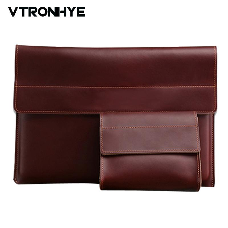 11 13 15.4 Inch Leather Laptop Bag For Macbook