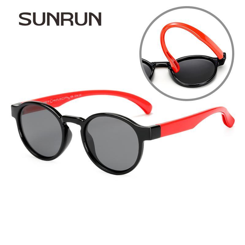 e64bd8f691 Compre SUNRUN UV400 Protección Niños Moda Gafas De Sol Polarizadas ...