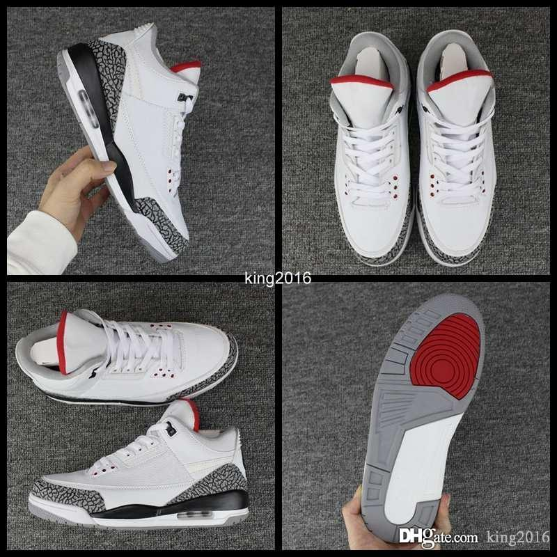 bae59578dd3c14 2018 New 3 III JTH NRG 3s Justin Timberlake Fire Red White Cement Mens  Basketball Shoes Sports Sneakers AV6683 160 Man Shoes Size 8 13 Baseball  Shoes ...