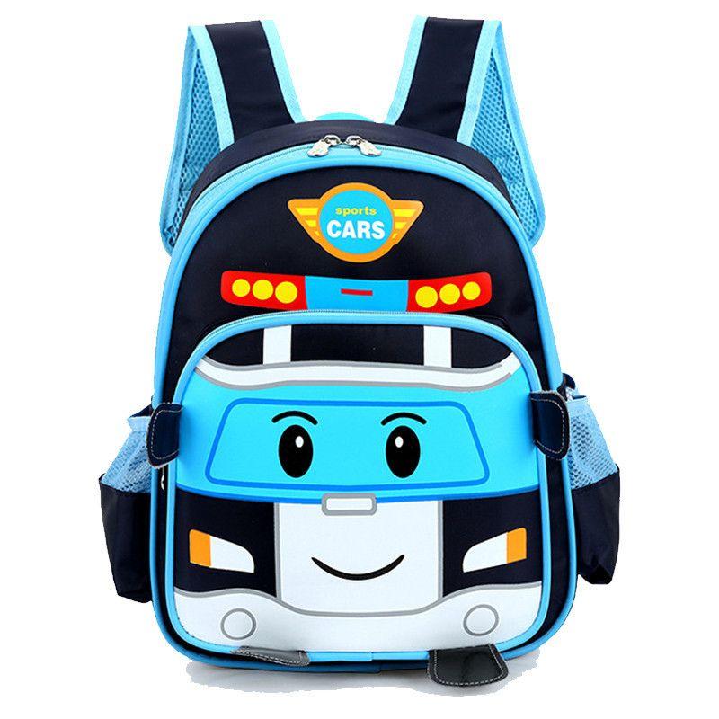 Kindergarten School Bags for Boys Cartoon Cars Children Backpacks Girls  Schoolbag Nylon Kids Satchel Preschool Backpack Gifts