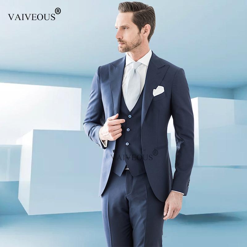 6a7b046ce Satın Al Mucielee Ucuz Erkek Takım Elbise Slim Fit Erkek Resmi Giyim  Erkekler Balo Suits Düğün Damat Blazer Masculino 3 Parça Ceket + Pantolon +  Yelek, ...
