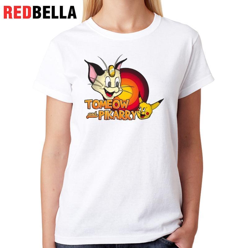 Women 100 Tom Redbella Mujer Polera Funny Tops Ropa De Jerry Camiseta Dibujos Kawaii Japón Algodón Parodia Compre Pop Tv Harajuku Animados xqaAwgpB