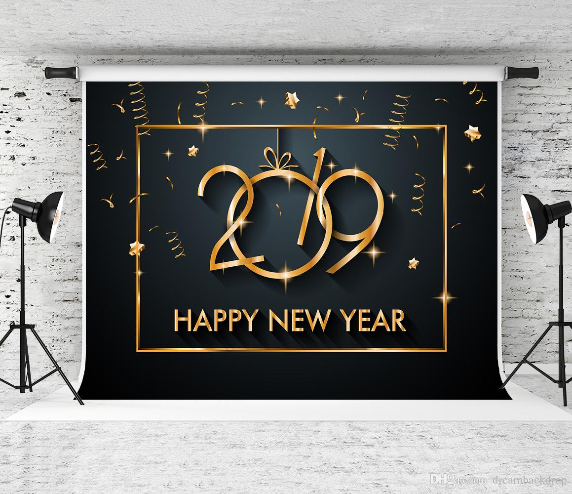 2018 dream 7x5ft 2019 happy new years eve photography backdrop golden banner photo booth background for children shoot studio backdrops prop from