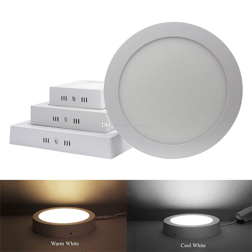 Dimmable 9w 15w 25w round square led panel lights surface mounted led downlights lighting led ceiling spotlight ac 110 240v drivers