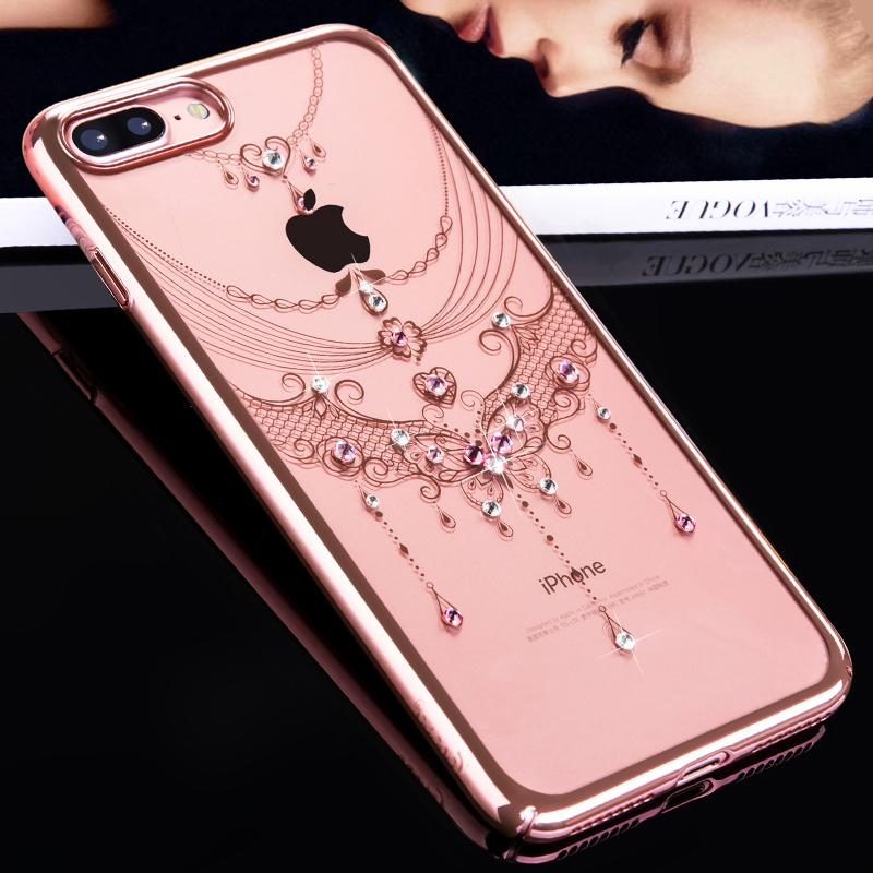 Wholesale Case For IPhone 7 X 8 Plus Case Swarovski Element Crystals For  IPhone 7 Phone Case Elegant For IPhone 8 Cover Woman Customized Cell Phone  Case ... df22d8d06f