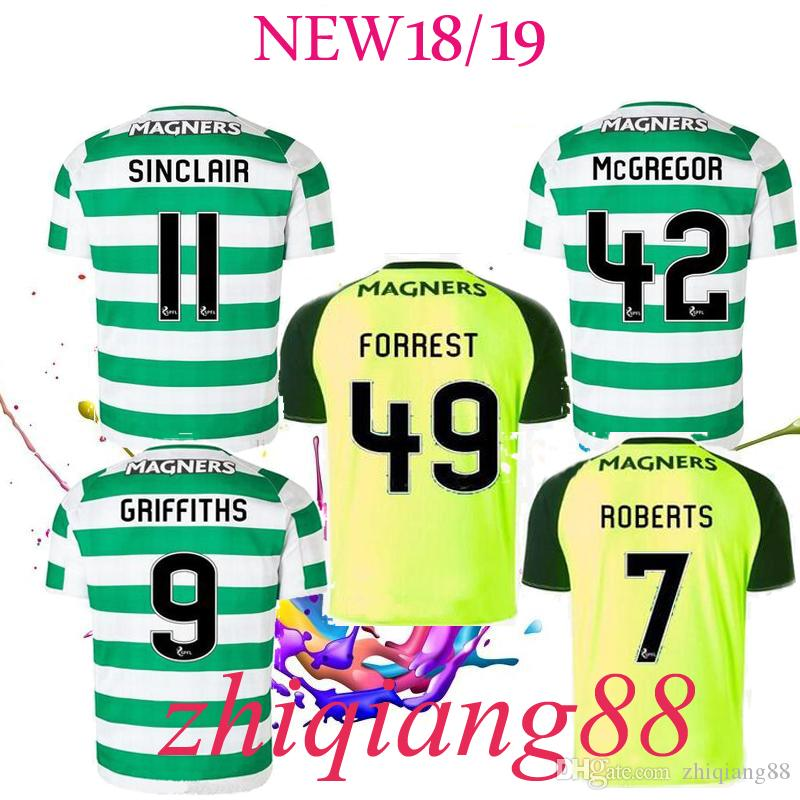 6534ca935 2019 18 19 New Soccer Jersey Away Short Sleeve Soccer Jersey Celtic  Griffiths Dembele Sinclair Rogic McGregor Roberts Forrest Third Away Shirt  From ...