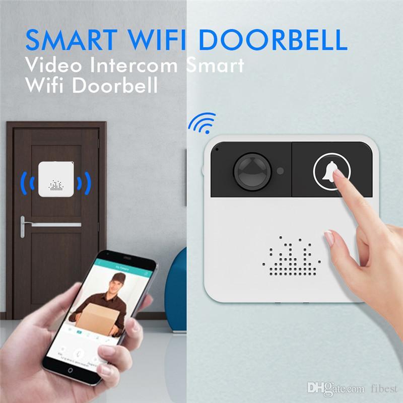 WiFi Vidéo Sonnette HD 720 P Sans Fil Mini Caméra Intelligente Porte Cloche Anneau D'alarme Home Phone Interphone APP Contrôle iOS Android