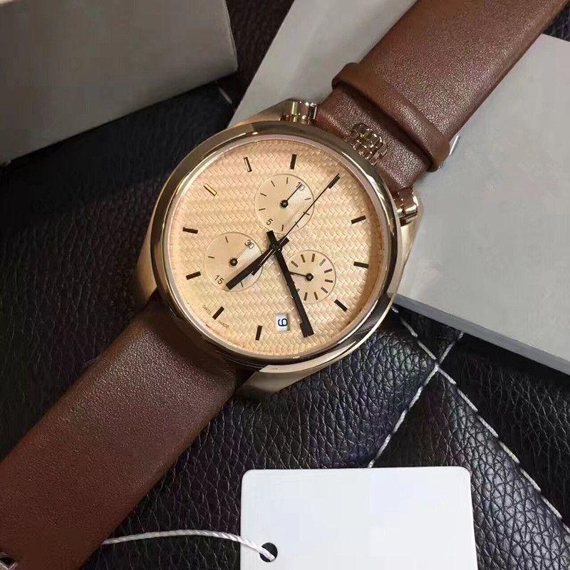c682b29b308af2 Stylish New Men S Watch! Stainless Steel Three Eye Six Needle Series Quartz  Waterproof Watch  High Quality