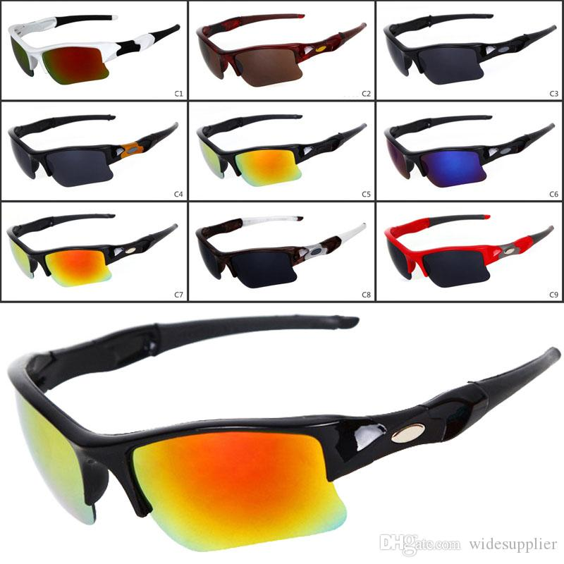 new Sunglasses men fashion men's Bicycle sun glasses Sports goggles driving sunglasses cycling 9colors good quality 9009 DHL Shipping