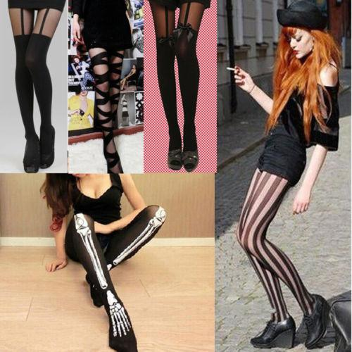 d0643c0cd32 2019 Sexy Women Lace Top Stay Up Thigh Highs Stockings Nylons Spendex  Creative Skeleton Bone Hosiery Pantyhose Bowknot Tights From Sikaku