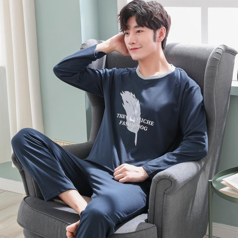 Men's Sleep & Lounge High Quality Casual Cotton Pajamas Sets For Men 2018 Autumn Winter Long Sleeve Pyjama Male Homewear Loungewear Mens Home Clothes Underwear & Sleepwears