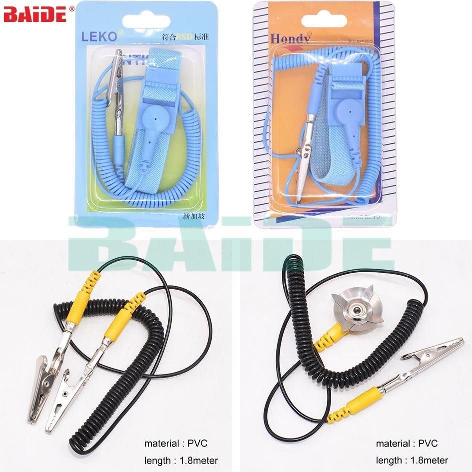 Imported From Abroad Free Shipping Posh Esd Adjustable Wrist Strap New Anti Static Antistatic Esd Adjustable Wrist Strap Band Grounding Clip Hand & Power Tool Accessories Power Tool Accessories