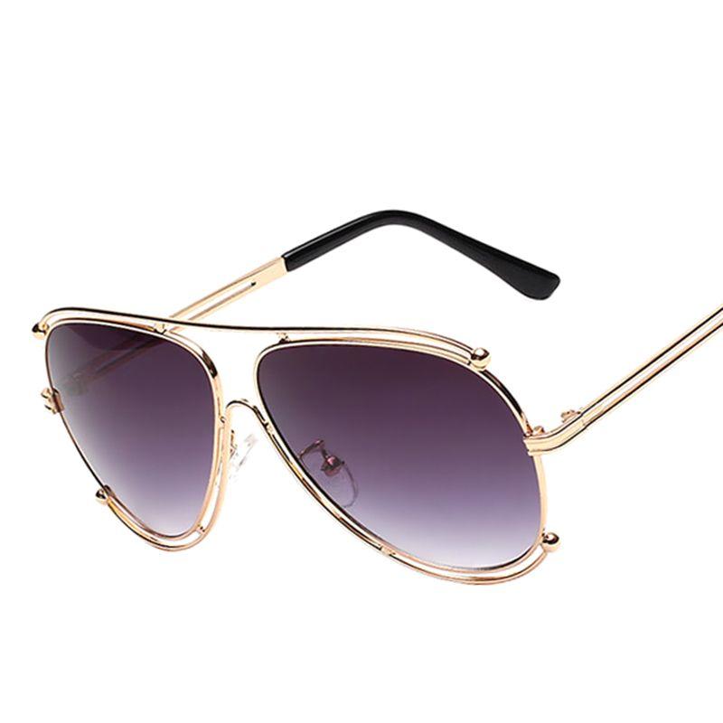 f15e6f524a0b Luxury Brand Pilot Sunglasses Fashion Women Italy Hollow Designer ...