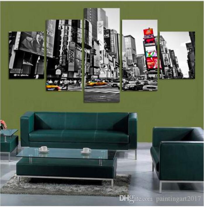2019 5 Panels Picture New York City HD Canvas Print Decorative Wall Pictures Painting For Home Decoration Poster Gift Hotel Decor From Paintingart2017