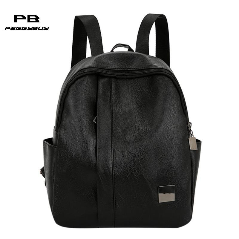 e1699dc7fc Korean Fashion Women PU Leather Backpacks All-Match Casual Travel Girls Bag  Backpacks Cheap Backpacks Korean Fashion Women PU Leather Online with ...