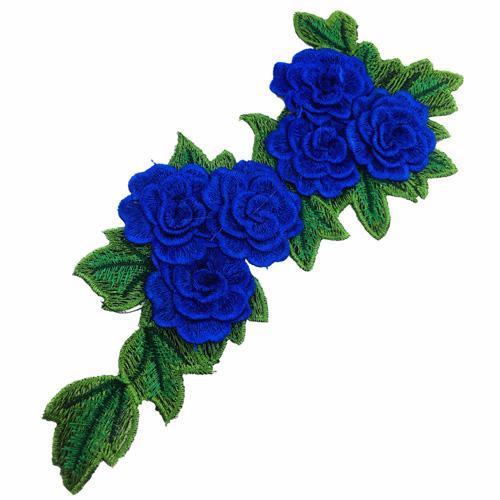 Adesivi ricamati patch cucire fiori patch vestiti Badge applique tessuti cuciti NL142