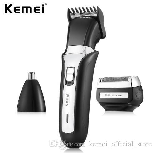 Kemei 3 In 1 Pro Rechargeable Electric Hair Trimmer Nose Beard Trimmer For Men Safe Face Care Hair Cutting Machine KM-6550