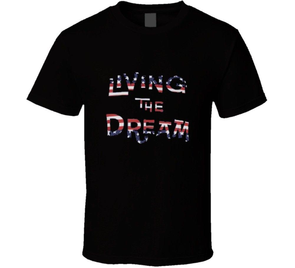 Living The Dream American Flag Usa T Shirt Cool Casual Pride T Shirt