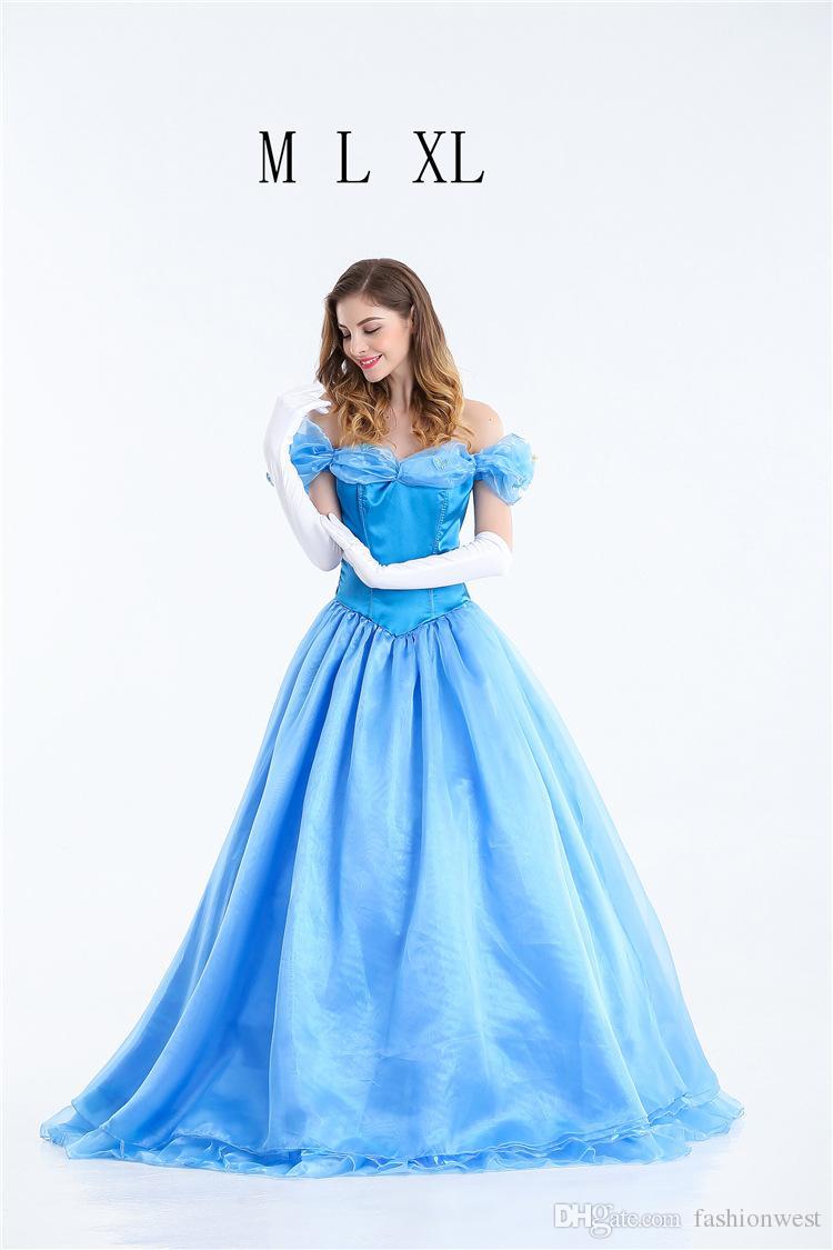 2185671e12e9 Acquista Abito Da Principessa Costume Da Halloween Cenerentola Costume Da  Principessa Adulti Abito Da Sera Le Maschere Cosplay Da Donna A  32.49 Dal  ...