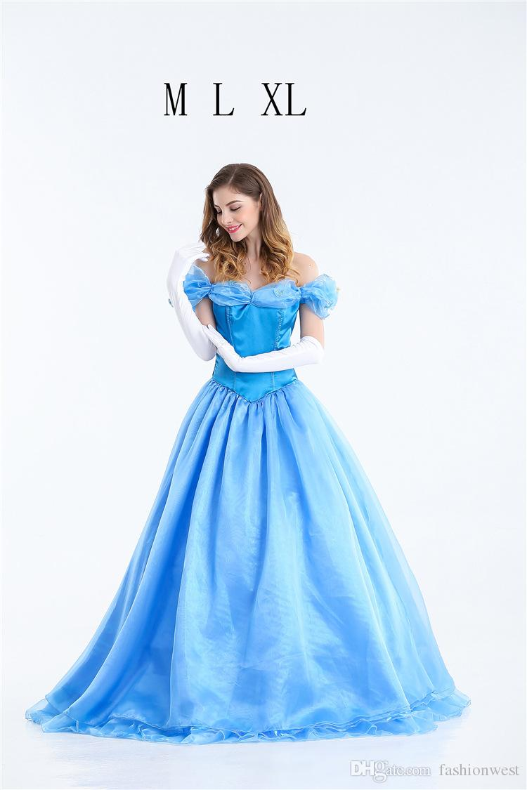princess dress halloween costume cinderella adult princess costume