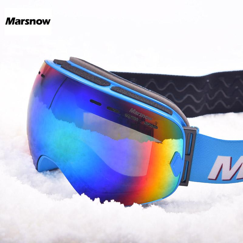 Marsnow Ski Goggles Children Boy Girl Men Women Anti-fog UV400 Skiing Snowboard Goggles Mask Eyewear Snowboarding Glasses Points