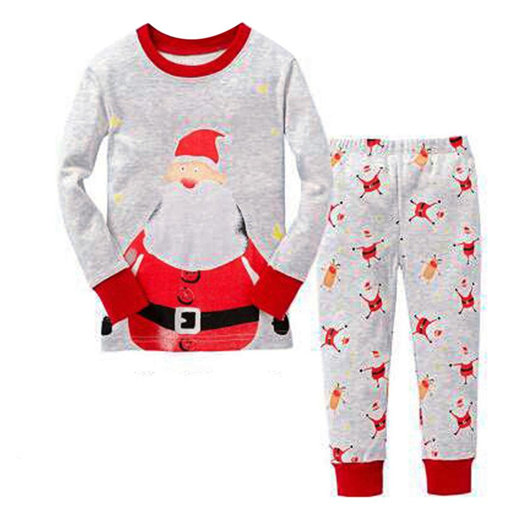 2017 new christmas kids pajama sets christmas pajamas baby boys girls clothes kids deer printed children clothing suits christmas pjs for boys boys pajama