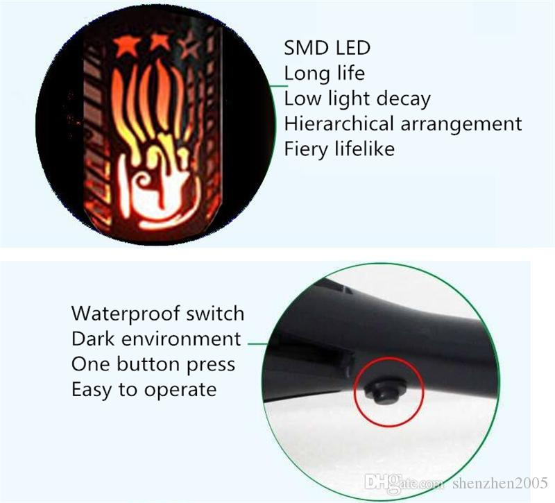 Torches Lights Outdoor Solar Lights Waterproof Flickering Flames Spotlights 102 LEDs Landscape Lighting Dusk To Dawn Garden Security Light