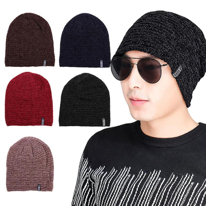 2019 Men Winter Beanies Hats Fashion Unisex Letter Winter Warm Hat Solid  Color Soft Knitted Fleece Beanie Cap Hat Men Accessories From Cutport 0a86739e23a