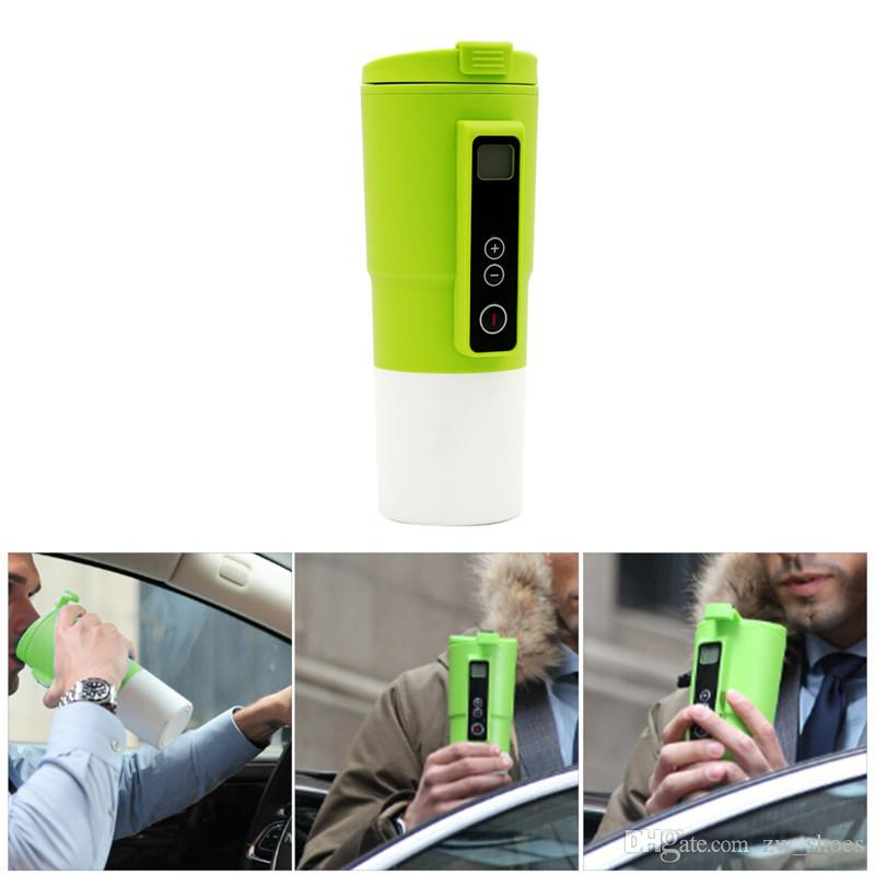 2018 new 12V Electric Smart heating Mug In-Car Heated Mug Travel Mug with Temp control and LCD display 410ml
