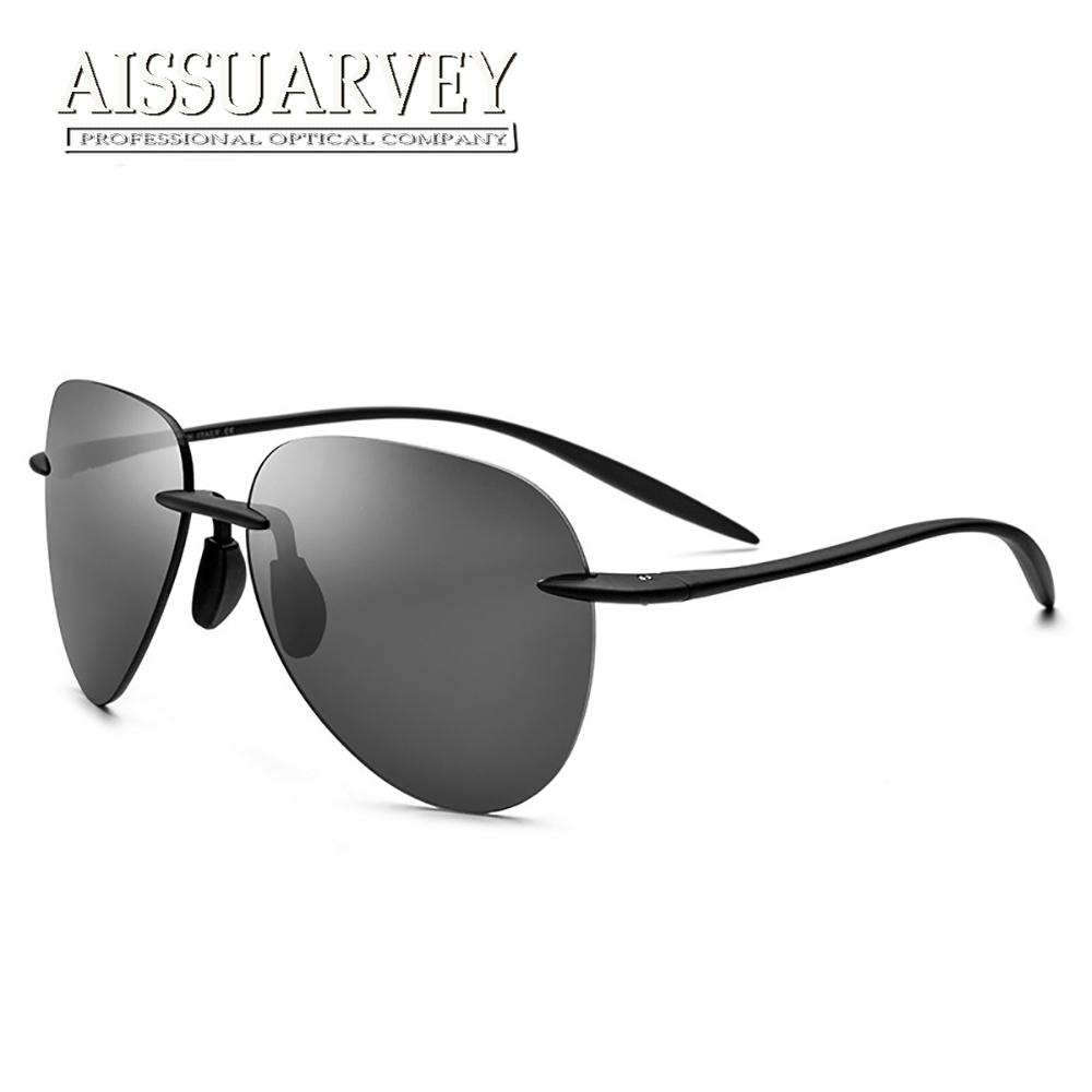 f05fa8bedac 2018 Fashion Brand Rimless Polarized UV400 Sunglasses for Man High ...