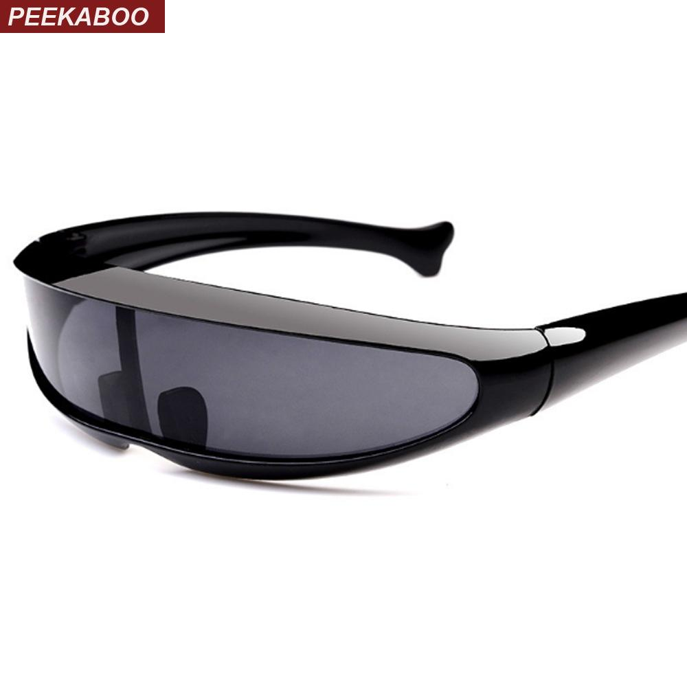 74f24658ef9eb Peekaboo Plastic Cheap Sunglasses One Piece Lens Unisex Red White Black Vintage  Women Sun Glasses For Men Uv400 Heart Sunglasses Circle Sunglasses From ...
